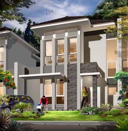 Desain rumah mewah 2 lantai 2014