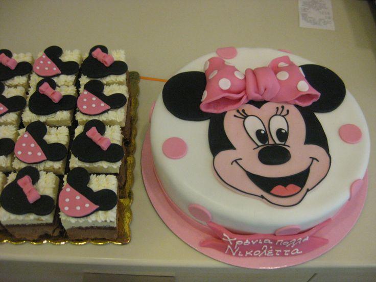 Τούρτες Γενεθλίων - Μίνι Μάους με παστάκια! #sugarela #TourtesGenethlion #MiniMouse #BirthdayCakes