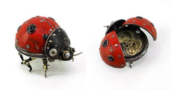 歯車で作られたてんとう虫