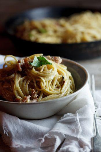 Spaghetti Carbonara - Bacon + Cheese + Eggs + Pasta = Heaven