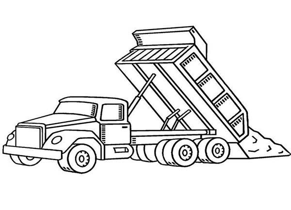 Construction, : Dump Truck on Construction Work Coloring ...