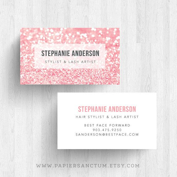 250 custom glitter business card calling card makeup artist card free shipping on etsy