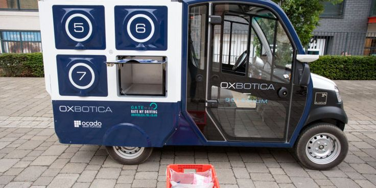Self-driving grocery truck