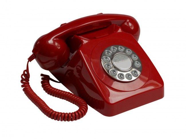 GPO 746 Druktoets Rood - Telefonie - 123platenspeler.nl