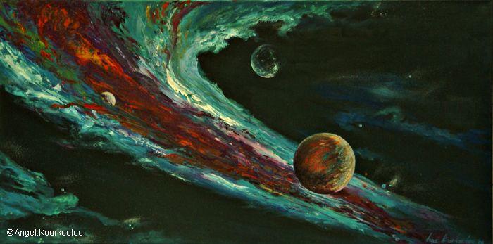 ΓΕΝΕΣΙΣ II, λάδι σε καμβά, 100x50cm, 2006 GENESIS II, oil on canvas, 100x50cm, 2006