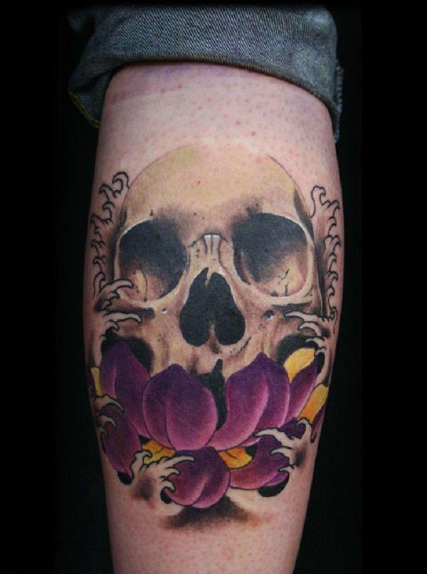 Skull Tattoos 13 - 80 Frightening and Meaningful Skull Tattoos  <3 <3