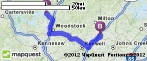 Driving Directions from 8885 Bells Ferry Rd, Canton, Georgia 30114 to Alpharetta High School in Alpharetta, Georgia 30005 | MapQuest