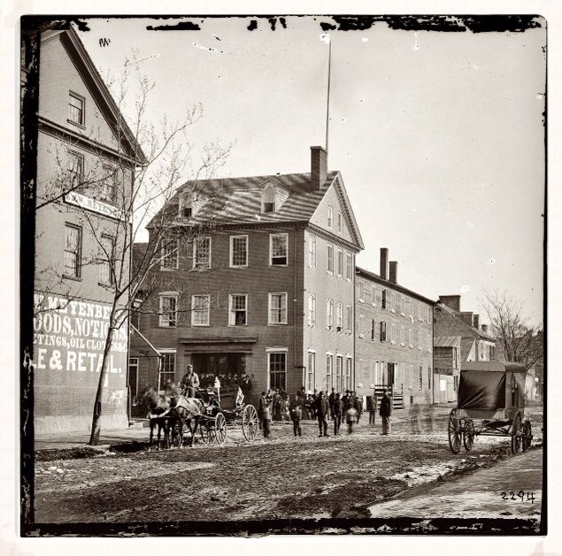 """""""The Marshall House"""" in Alexandria, Virginia approx 1861"""