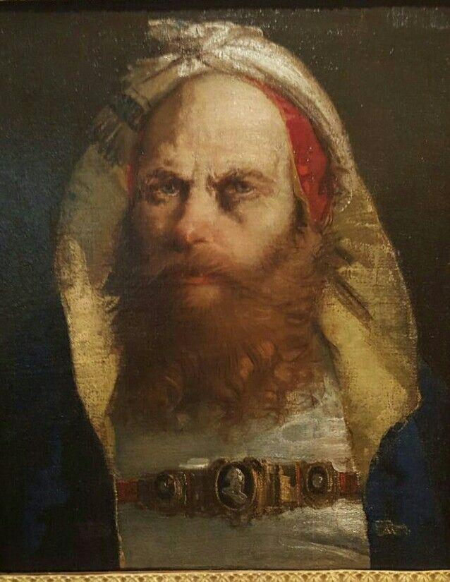 Testa di orientale. Giandomenico Tiepolo.  Musei Civici di Pavia.