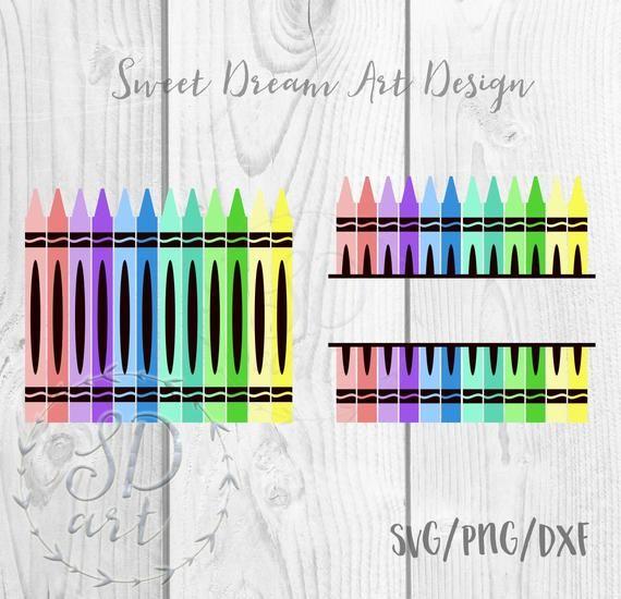 PNG and Laser Cut Files School Supplies Split Monogram for Teacher and Names Digital Design SVG Bundle