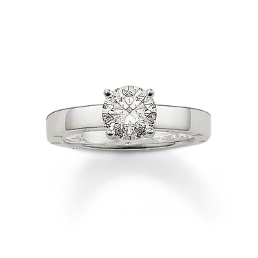 THOMAS SABO gift idea for her: Glam & Soul Ring with white syn. zirconia made from 925 Sterling Silver.