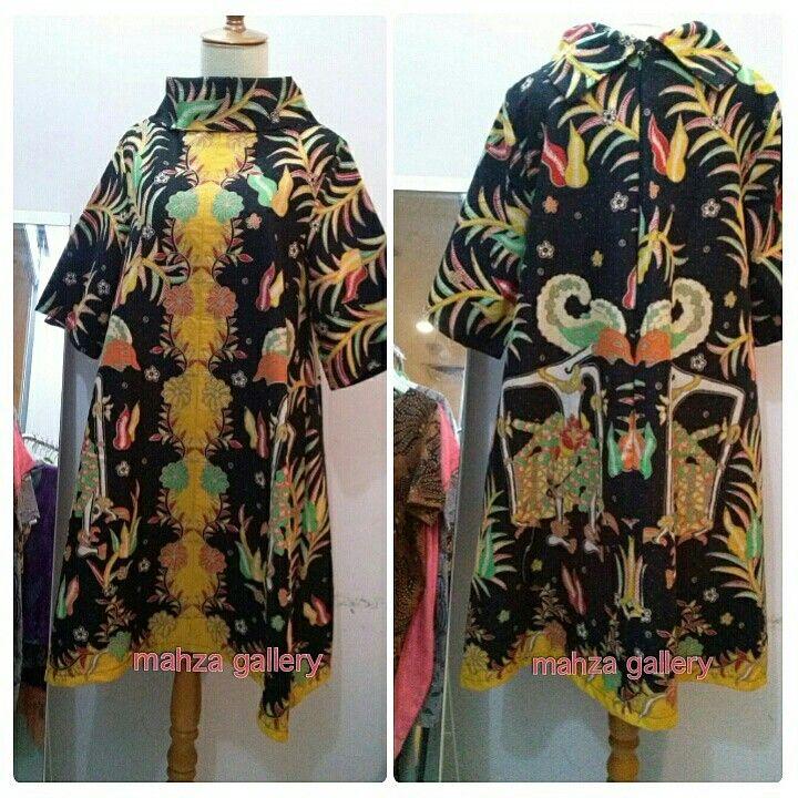 A- line dress batik motif wayang