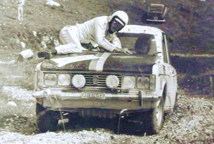 Fiat 124 rally at San Martino di Castrozza 1974