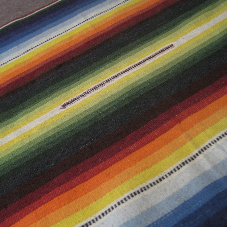Stunning Vintage Serape Striped Blanket. $58.00, via Etsy.
