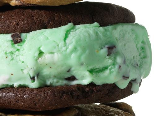Triple Mint Chip Ice Cream Sandwich