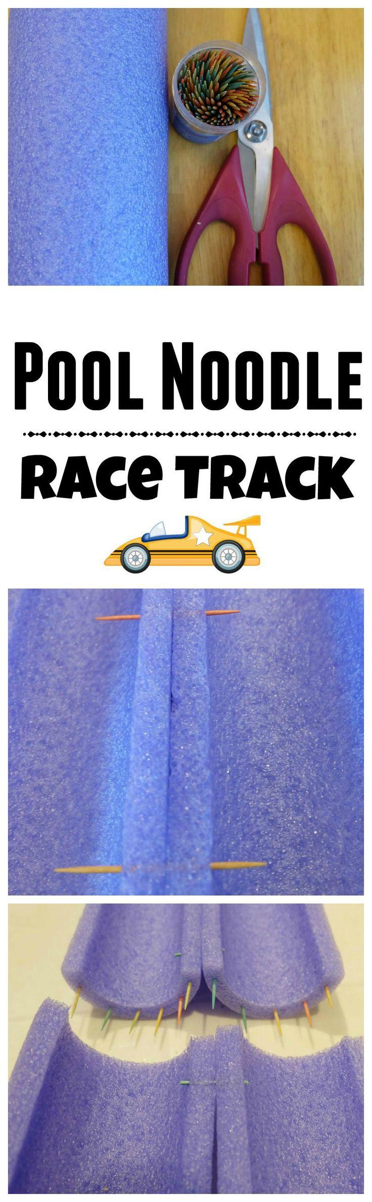 Pool Noodle Race Track