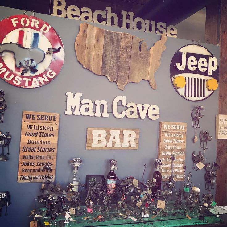Man Cave Superstore : Love our new man cave wall at the store and of course it
