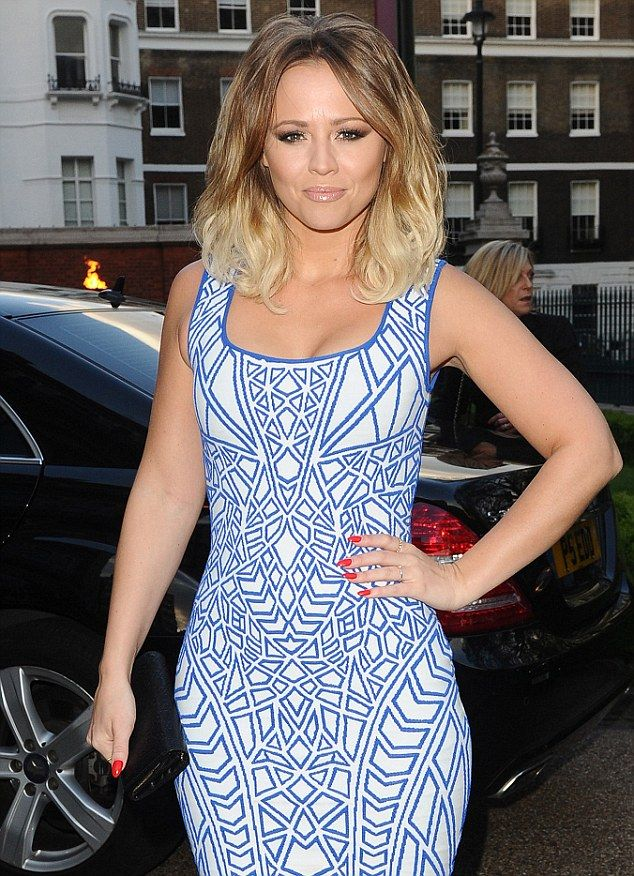 Summer ready: Kimberley Walsh looked picture perfect in her sky blue dress (from DAILYMAIL.CO.UK)
