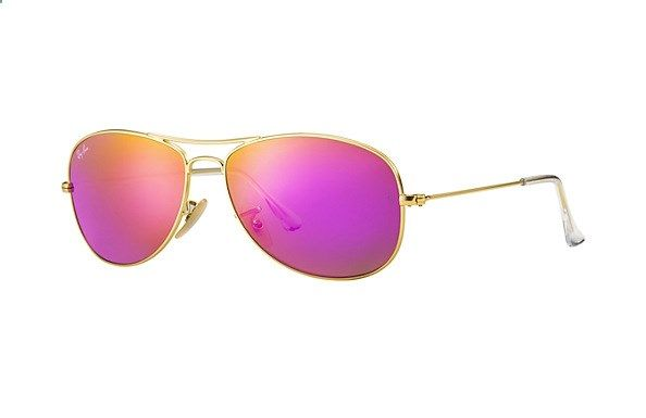 Ray-Ban Aviator Matte Gold Green Mirror Fuxia RB3025 112/4T