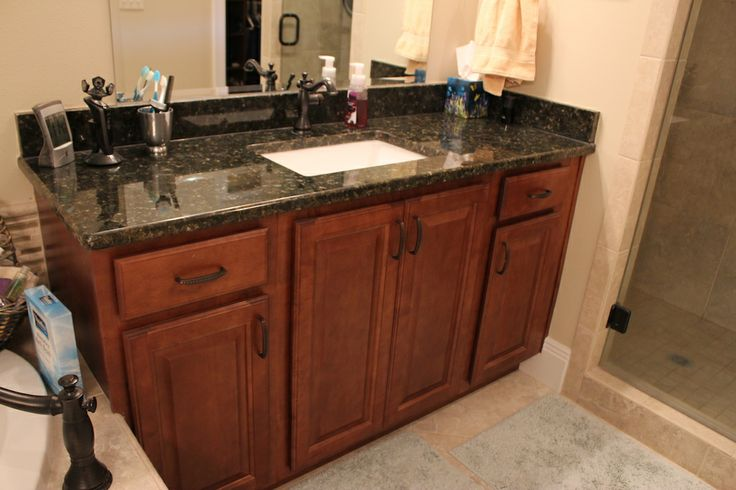 31 best images about bathrooms on pinterest cherries for 1 inch granite countertops