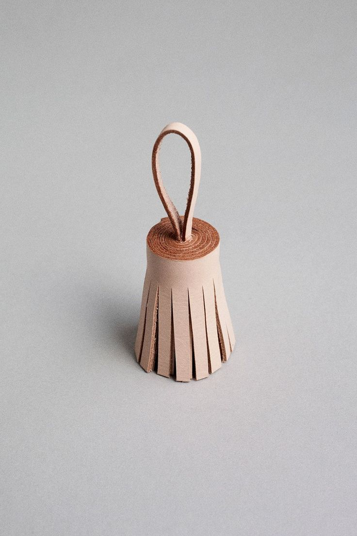 Handmade leather tassel ideal to use together with the handmade leather keyhanger.  Handcrafted Leather Goods. Mia Behrens. Copenhagen, Denmark.