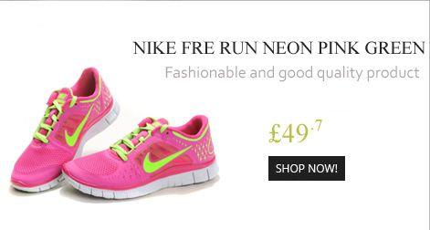 Nike Free Run Damen & Herren Hot Punch/Schwarz/Neon Pink/Türkis Reduziert Kaufen Deutschland