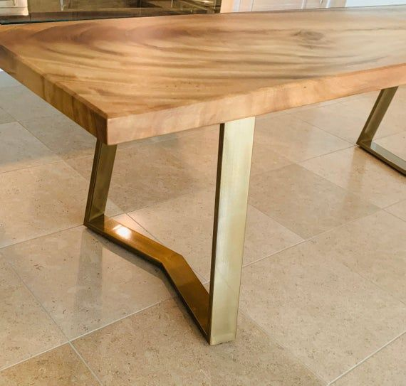 Golden Table Legs Steel Table Legs Set Of 2 Dining Table Etsy In 2020 Steel Table Legs Brass Table Legs Steel Table