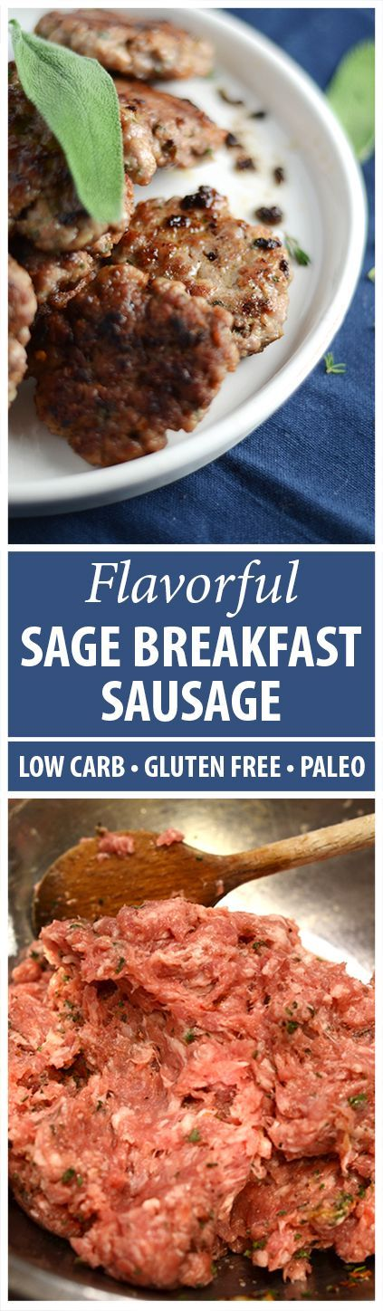 Our Sage Breakfast Sausage Recipe is easy, fast and delicious. It is Gluten Free, Paleo, Low Carb & Wheat Belly Friendly. Make sage breakfast sausage today!