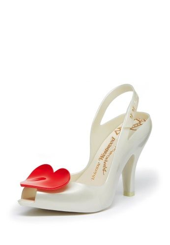 Our most popular wedding shoe ever, it's our Lady Dragon Melissa shoe in White with red heart. Now back with a slight twist.
