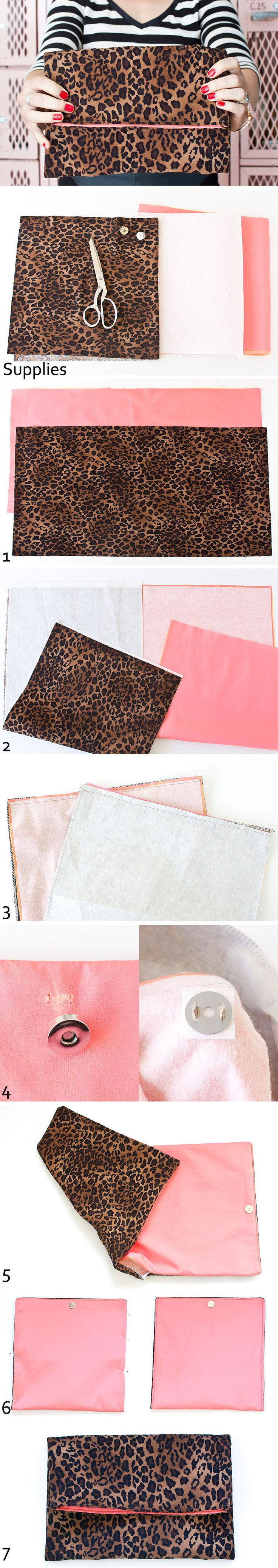 Sew a Leopard Fold-Over Clutch | Transient Expression