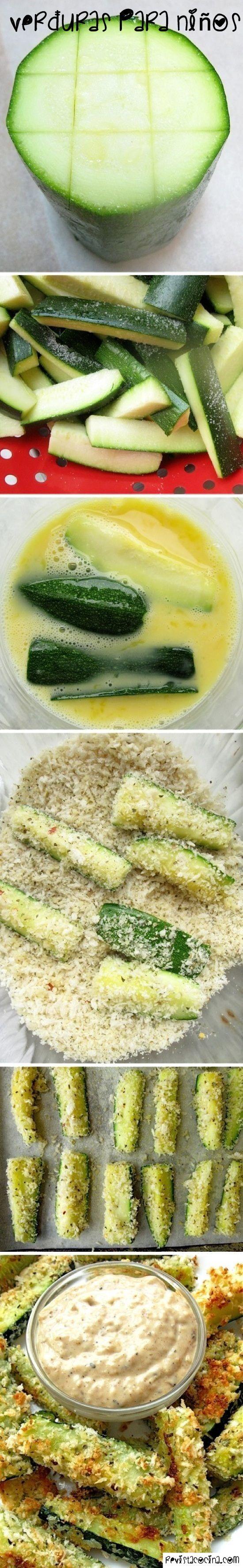 Recetas de verduras para niños, ñam!  www.RevistaCocina.com