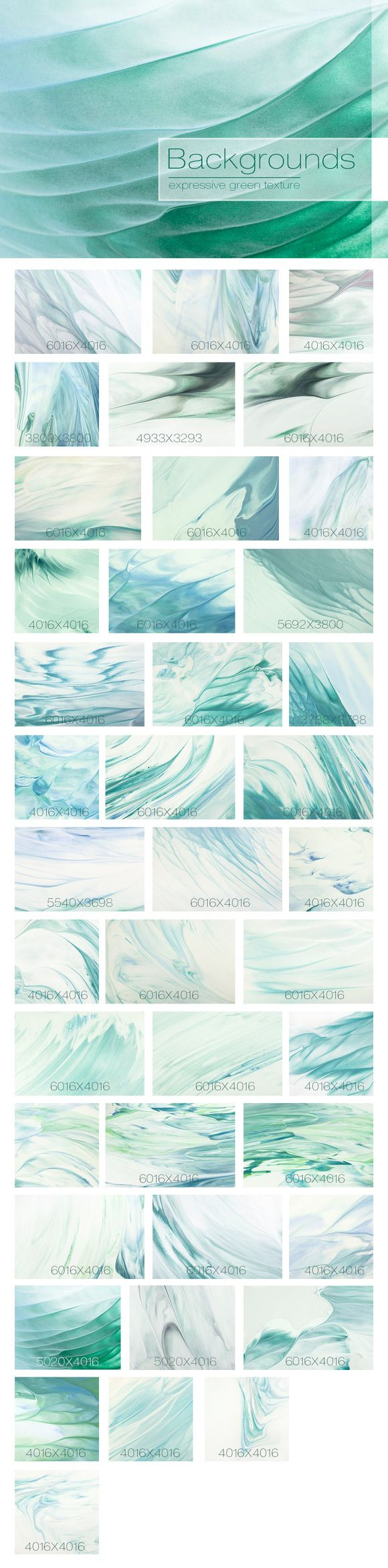 40 Abstract Green Backgrounds by Nkate on @creativemarket