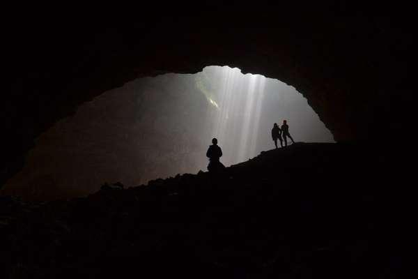 Heavenly lights in a cave, Yogyakarta, Indoneia