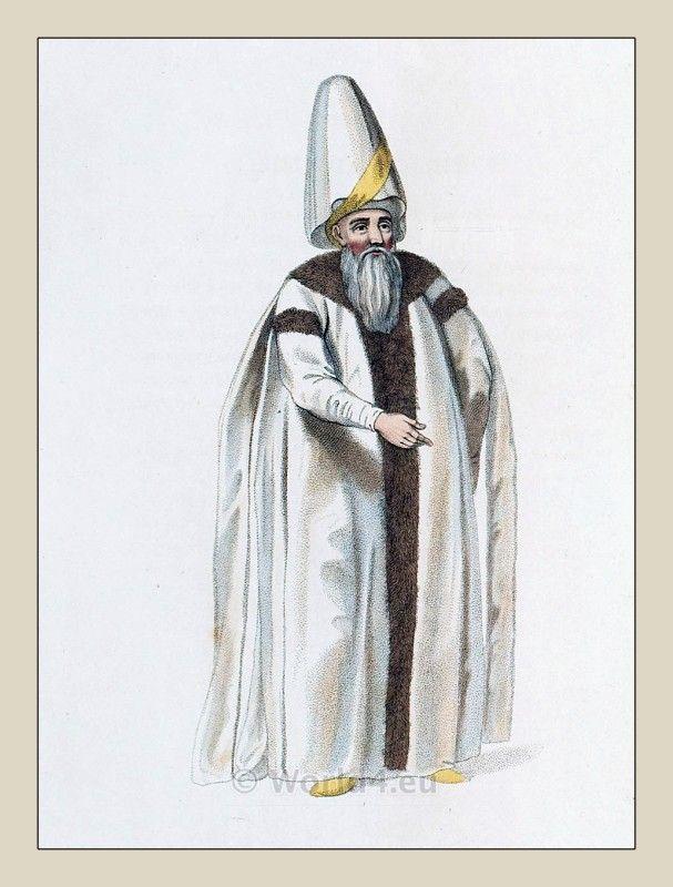 Grand Vizier costume. Ottoman empire historical clothing