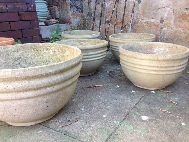 Half-size triple stripe pots
