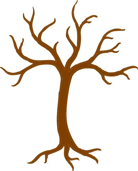 tree clip art free | Tree Trunk And Branches clip art - vector clip art online, royalty ...