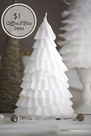 コーヒーペーパーで作るクリスマスツリー その2 クリスマス