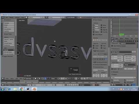 Blender3D 5 Birleşik tek tuşlar ve bazı özellikler - YouTube