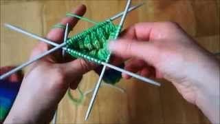 Pletení ponožek na pěti jehlicích - 1. část