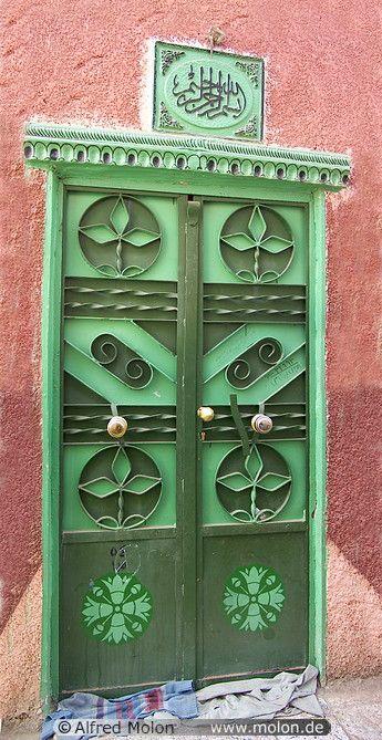 door with Nubian decoration, Elephantine Island, Aswan, Upper Nile Valley, Egypt | Alfred Molon
