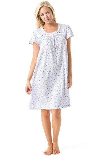 Casual Nights Women's Cap Sleeve Floral Nightgown - MORE INFO @ http://lingerie4everyone.com/store/casual-nights-womens-cap-sleeve-floral-nightgown/?b=6059