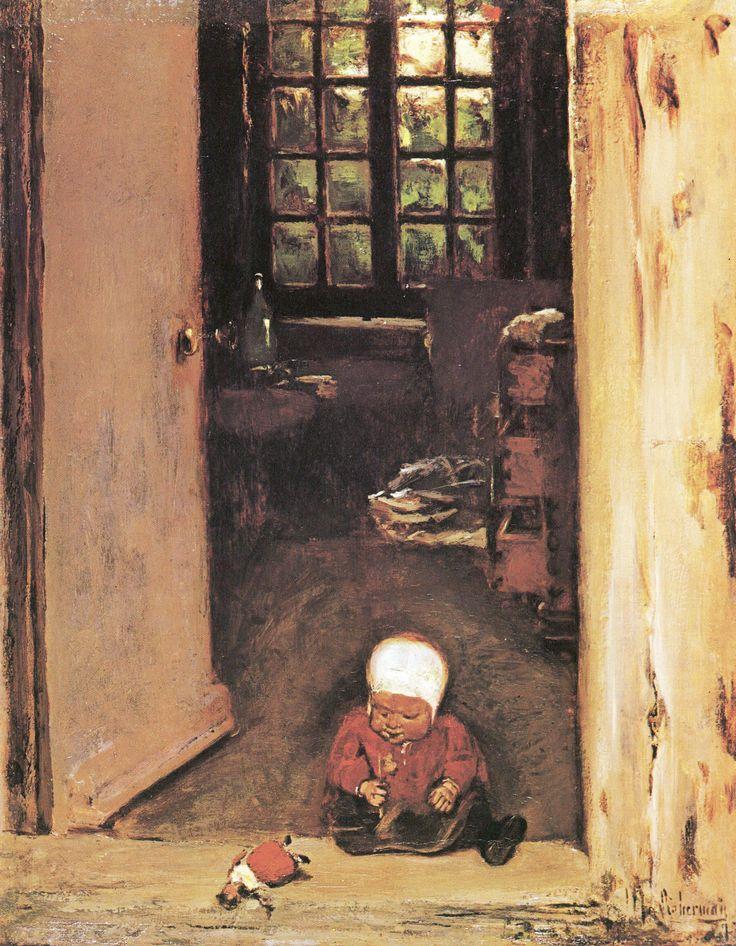 Liebermann, Max: Spielendes Kind in der Haustür