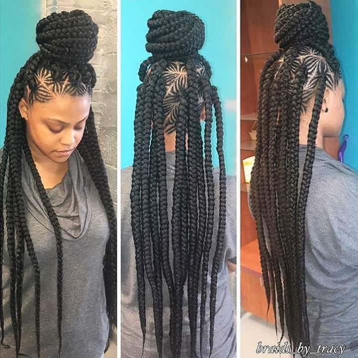 Gorgeous braids and the patterns are off the hook❤️❤️❤️ #creativehairstyle…