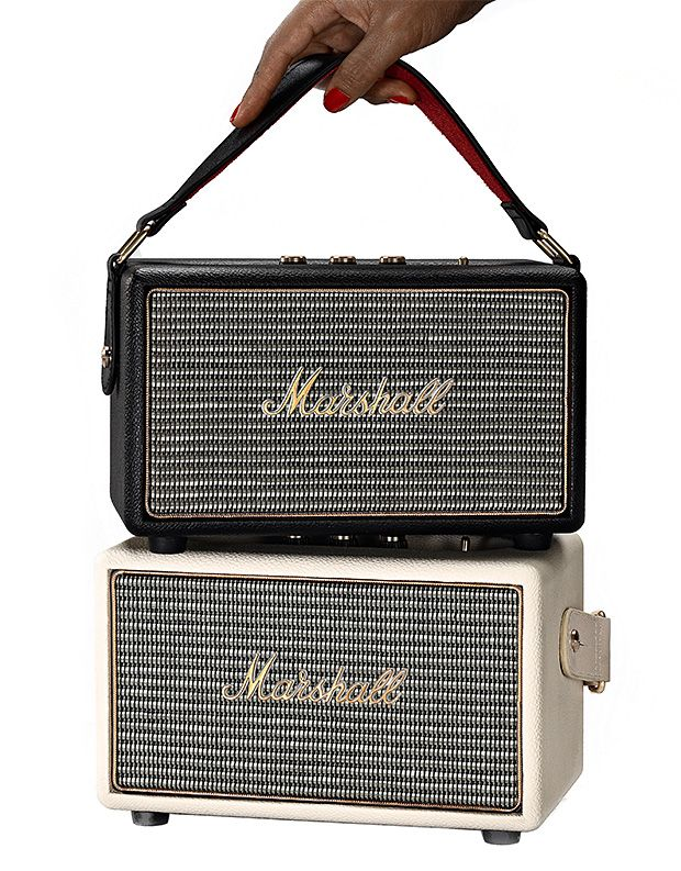 Marshall Kilburn Speaker - Aside from its retro look and feel, Marshall Kilburn streams music wirelessly (via Bluetooth) at an amazing quality. Marshall Kilburn Speaker is good for at least 20 hours of playback. | For more pins on Portable Bluetooth and Wireless Speakers, follow Best Buy Portable Speakers (www.pinterest.com/bestbuyspeakers/)