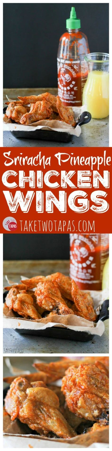 You can't always find Paleo-friendly foods at a tailgate party, so make these Sriracha Pineapple chicken wings and be the hero! Keep with your Paleo goals and chow down on some sweet and spicy wings! Sriracha Pineapple Chicken Wing Recipe   Take Two Tapas