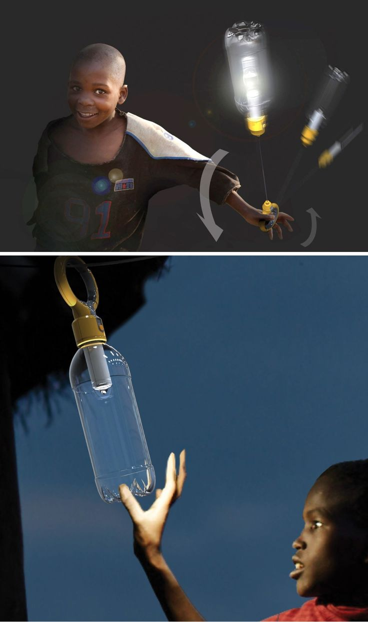 The Play & Lighting lamp is a wind-up lighting device for the third world that fixes onto a bottle, not just becoming a lantern, but also doubles up as a toy. Read More: http://www.yankodesign.com/2016/11/17/innovative-illumination/