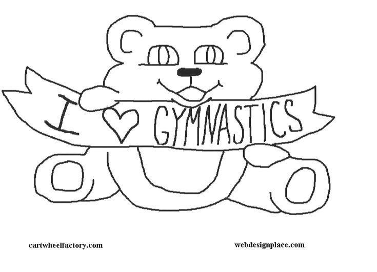 15 Best Gymnastics Color Pages Images On Pinterest