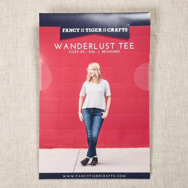 Wanderlust Tee Pattern - Fancy Tiger Crafts