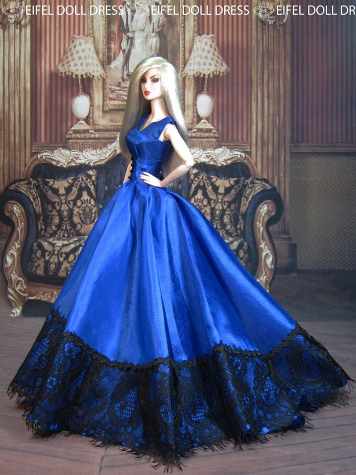 Eifeldolldress Fashion Royalty Evening Dress Outfits Gown BArbie Silkstone 0040 | eBay