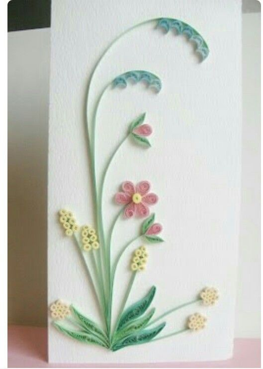 Sweet Flowers Quilled Greeting @ Rs.  299